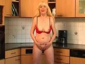 Mature Blonde Mom Excites Cunt With Hands And Vibrator