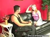 Blonde Babe Spanking her Lover