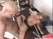 Small-Boobed Blonde Co-Ed Loves An Orgasmic Fucking On Table