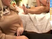 Blonde stocking fuck