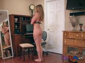 Teen Kirsten Lee Gets Caught Naked By Dads Friend