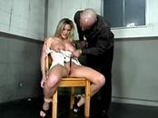 Submissive gets her nipples clamped