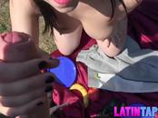 Pretty latina babe Nekane gets fucked on the picnic