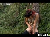 Emo Slut Fingering Outside