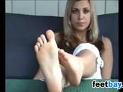 Sexy Blonde Shows Off Her Soles