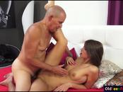 Czech hottie Susan Ayn give head to and fucked by an old guy
