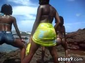 Black Ladies Twerking Outdoors