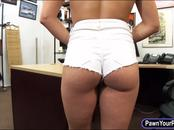 Booby pole stripper fucked by pawnkeeper in the back office