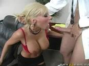 Busty Babe Doing Blowjob