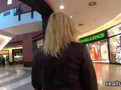Enchanting czech kitten was seduced in the mall and plowed in pov