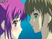 Anime making love at pool
