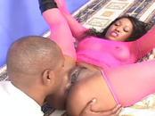 Freaky Ebony Girl Does Fellatio & Nails Shaft