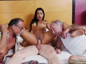 Photo hot ebony vs old man Staycation with a Latin Hottie