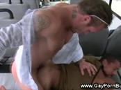 Latin twink fucking in a bus