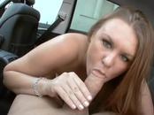 Dirty MILF Blows Boner In Car