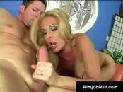 Large-Breasted Blonde Cougar  Enjoys Sucking & Having Sex