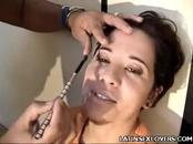 Pretty Latina Claudia Stripping