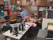 LP Office let Naomi Mae rides her pussy on his big cock