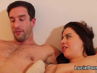 Greenhorn lezzie nymphos get their tight twats licked and nailed