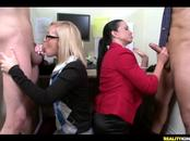 CFNM Girls Fuck With Naked Studs Inside Office