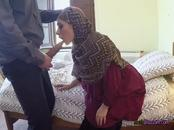 Broke Arab Chick Lucia Blows A Big Fat Cock