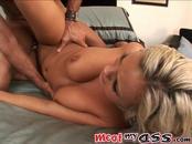 Hot Blonde Vixen Bree Olson Enjoys Hard Cock In Asshole
