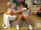 Webcam teen ass fuck Cindy and Amber nailing each other in the gym