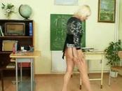 Mature School Teacher Pleasures Vagina After Class